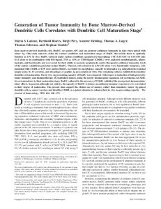 with Dendritic Cell Maturation Stage Marrow-Derived Dendritic Cells ...