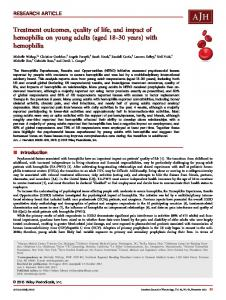 with hemophilia - Wiley Online Library