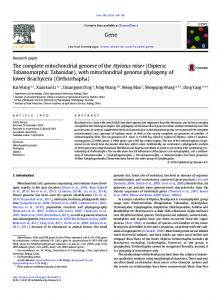 with mitochondrial genome phylogeny