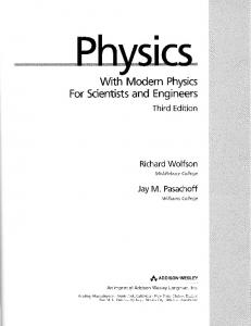 With Modern Physics For Scientists and Engineers