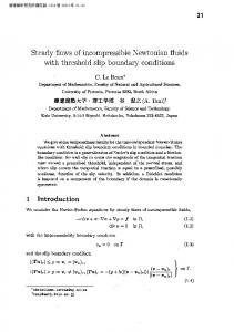 with threshold slip boundary conditions