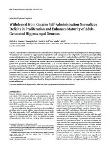 Withdrawal from Cocaine Self-Administration