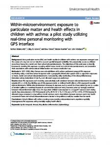 Within-microenvironment exposure to particulate ... - Semantic Scholar