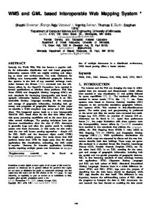 WMS and GML based Interoperable Web ... - ACM Digital Library