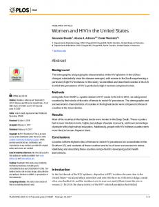 Women and HIV in the United States - PLOS