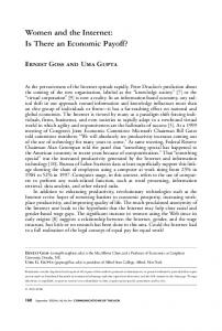 Women and the Internet: Is There an Economic ... - Semantic Scholar