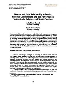 Women and their Relationship to Leader, Follower ... - ScholarWorks