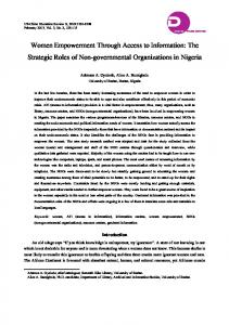 Women Empowerment Through Access to Information: The ... - ERIC