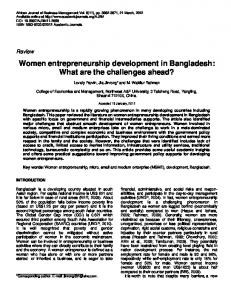 Women entrepreneurship development in ... - Academic Journals