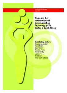 Women in the Information and Communication Technology (ICT ...