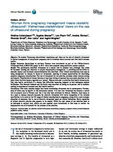 'Women think pregnancy management means obstetric ultrasound ...