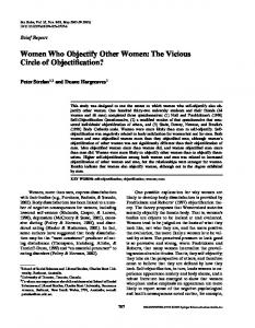 Women Who Objectify Other Women: The Vicious Circle of ...