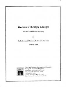 Women's Therapy Groups