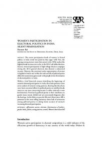 women's participation in electoral politics in india: silent ... - CSDS