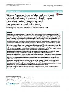 Women's perceptions of discussions about