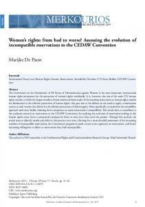 Women's rights: from bad to worse? Assessing the ... - SSRN papers
