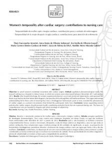 Women's temporality after cardiac surgery - Semantic Scholar