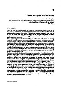 Wood-Polymer Composites - CiteSeerX