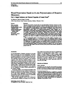Wood Preservation Based on In situ ... - Semantic Scholar