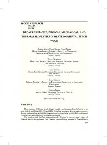 wood research decay resistance, physical, mechanical, and thermal ...
