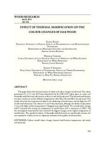 wood research effect of thermal modification on the colour changes of ...