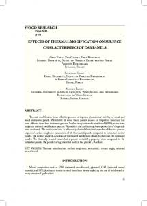 wood research effects of thermal modification on ...