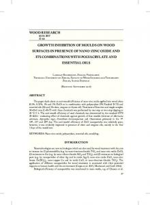 wood research growth inhibition of moulds on wood surfaces in ...
