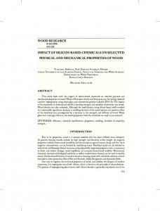 wood research impact of silicon-based chemicals on selected physical ...