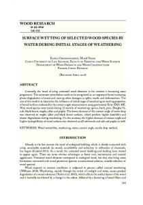 wood research surface wetting of selected wood ...