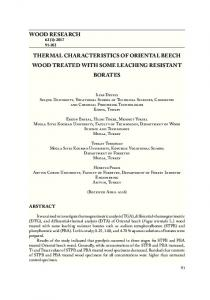 wood research thermal characteristics of oriental beech wood treated ...