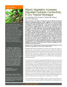 Woody Vegetation Increases Saturated Hydraulic ...