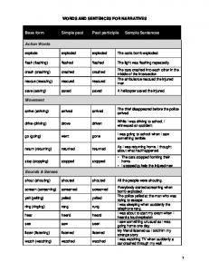 Word and sentences for narratives