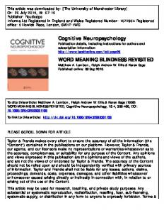 word meaning blindness revisited