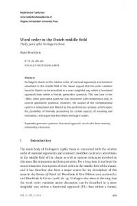 Word order in the Dutch middle field - KNAW Research Portal