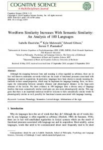 Wordform Similarity Increases With Semantic Similarity: An Analysis of