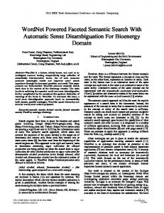 WordNet Powered Faceted Semantic Search with ...