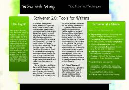 Words with Wings Scrivener 2.0: Tools for Writers - PixelCom