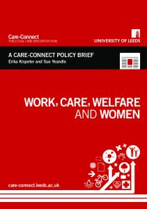work, care, welfare and women - Sociology and Social Policy