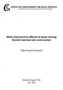 Work disincentive effects of taxes among Danish married men ... - PURE
