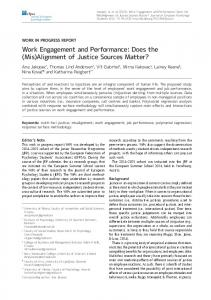 Work Engagement and Performance - Journal of European ...