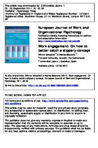 Work engagement: On how to better catch a slippery ...