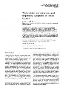 Work-related eye symptoms and respiratory symptoms in female ...