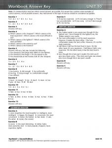 Workbook Answer Key UNIT 10 - acbeu