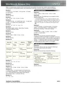 Workbook Answer Key UNIT 2 - useful stuff