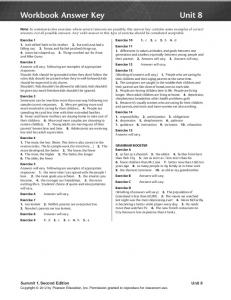Workbook Answer Key Unit 8 - useful stuff