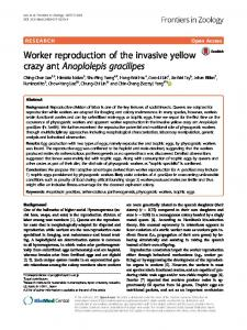 Worker reproduction of the invasive yellow crazy ... - Frontiers in Zoology