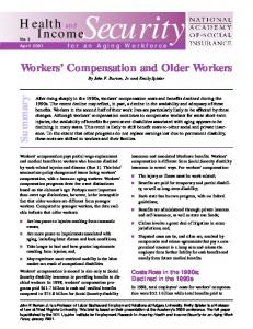 Workers' Compensation and Older Workers - National Academy of ...