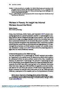 Workers in Poverty: An Insight Into Informal Workers