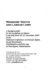 Workers' Rights and Labour Laws - Home Department