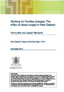Working for Families Changes - New Zealand Treasury